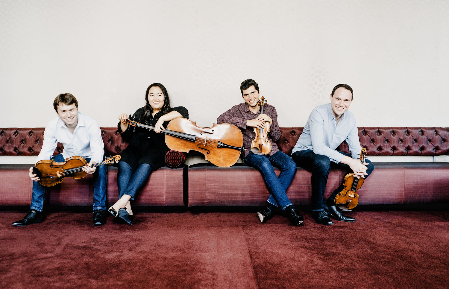 members of the Calidore String Quartet